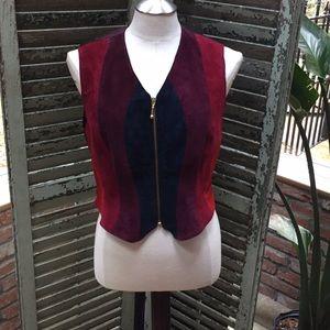 Mixed leather vest (vintage)